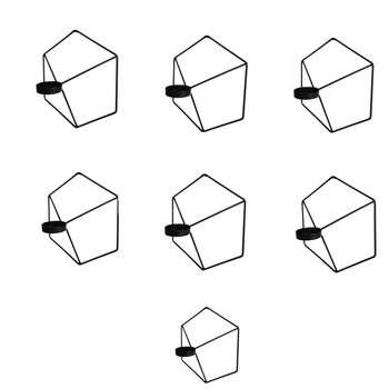 جاشمعی طرح شش ضلعی کد 1020 بسته 7 عددی