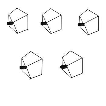 جاشمعی طرح شش ضلعی کد 1020 بسته 5عددی