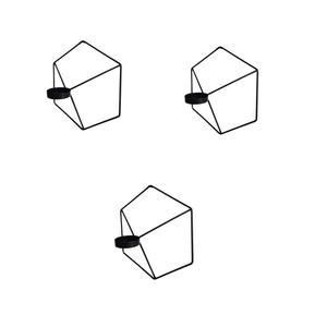 جاشمعی طرح شش ضلعی کد 1020 بسته 3 عددی