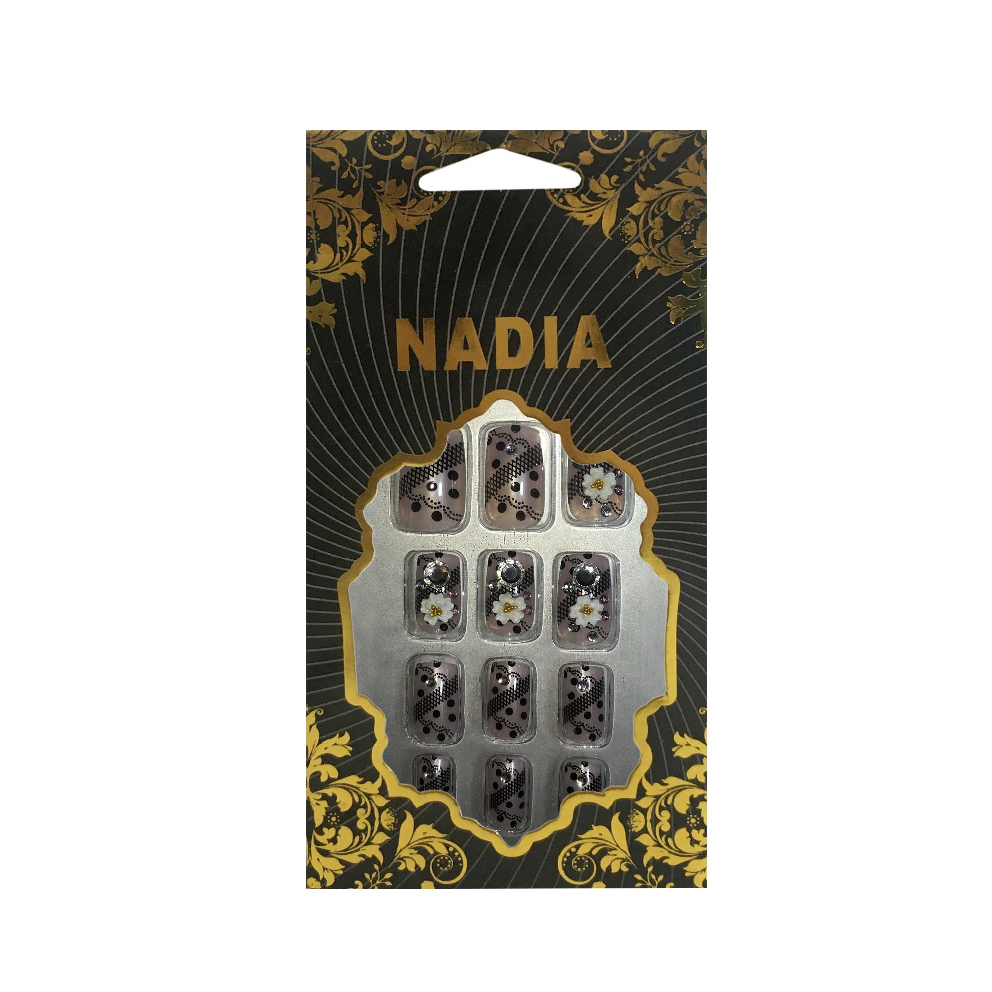 ناخن مصنوعی نادیا مدل N014 بسته 12 عددی