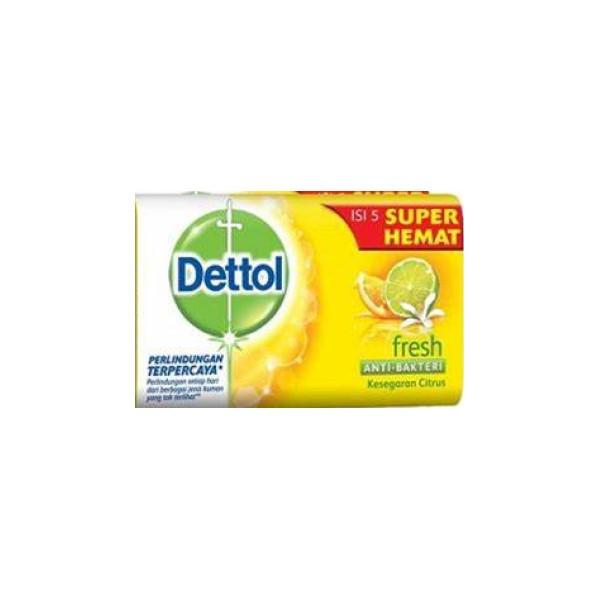 صابون ضد باکتری دتول مدل Fresh وزن 65 گرم بسته 6 عددی