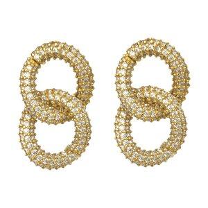 گوشواره طلا 18 عیار زنانه میو گلد مدل DG187