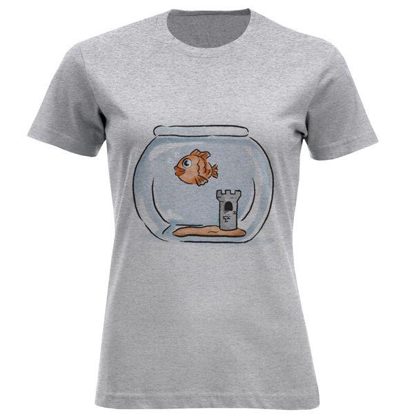 تیشرت آستین کوتاه زنانه طرح تنگ ماهی کد F469