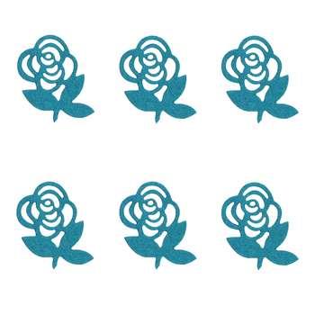 الگو نمد طرح گل رز مدل ONRoseB06 بسته 6 عددی
