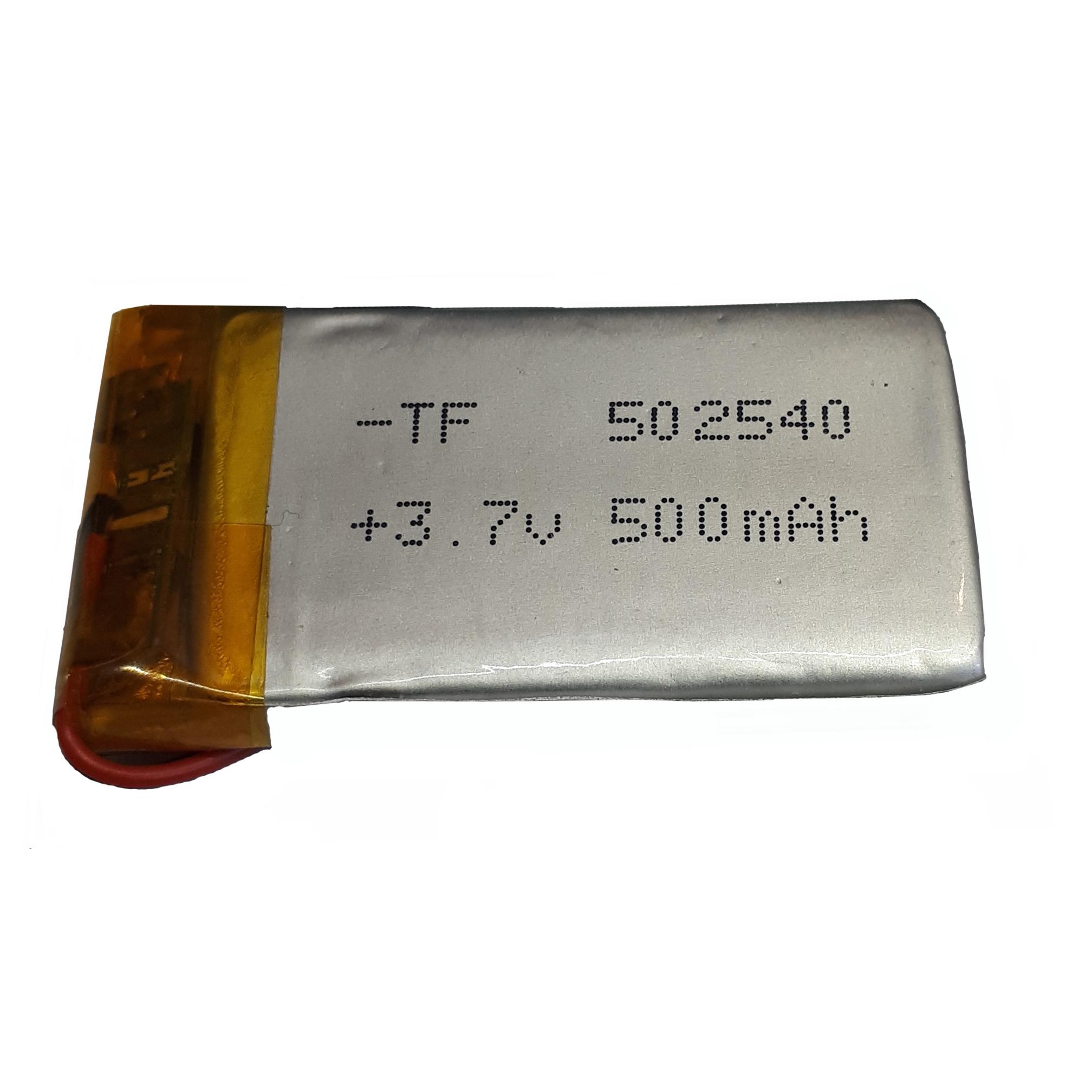 باتری لیتیوم-یون کد 502540 ظرفیت 500 میلی آمپر ساعت
