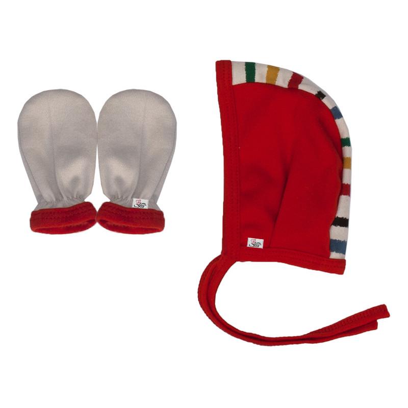 ست کلاه و دستکش نوزادی آدمک مدل Dj