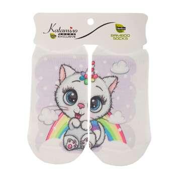 جوراب نوزاد کاتامینو طرح گربه ملوس