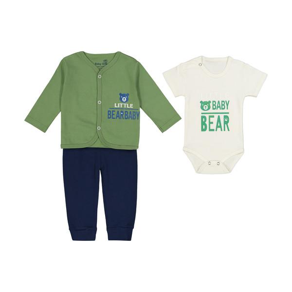 ست 3 تکه لباس نوزاد بی بی وان طرح خرس کوچولو