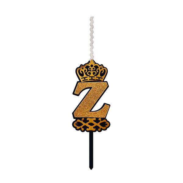 شمع تولد طرح حرف Z کد HKZ