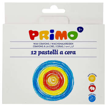 مداد شمعی 12 رنگ پریمو کد 051PC12I