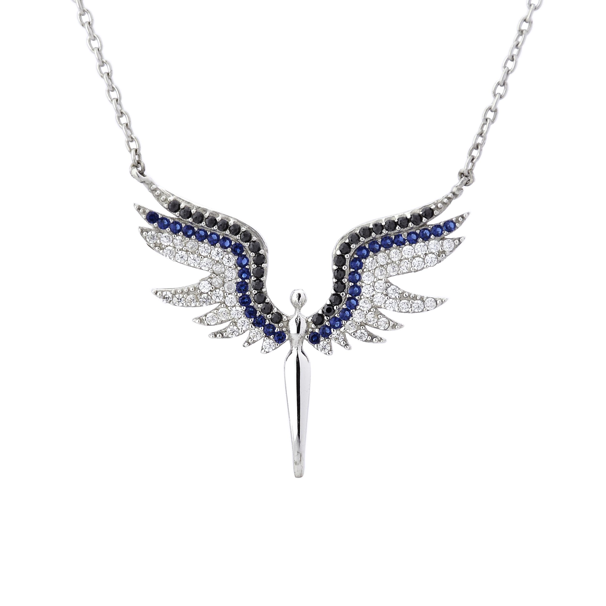 گردنبند نقره زنانه طرح فرشته مدل edn4510