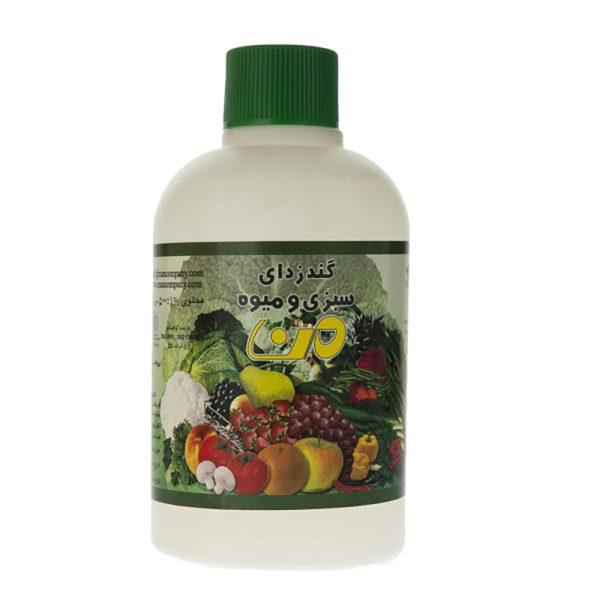 مایع ضد عفونی کننده سبزیجات من مدل 01 حجم 500 میلی لیتر