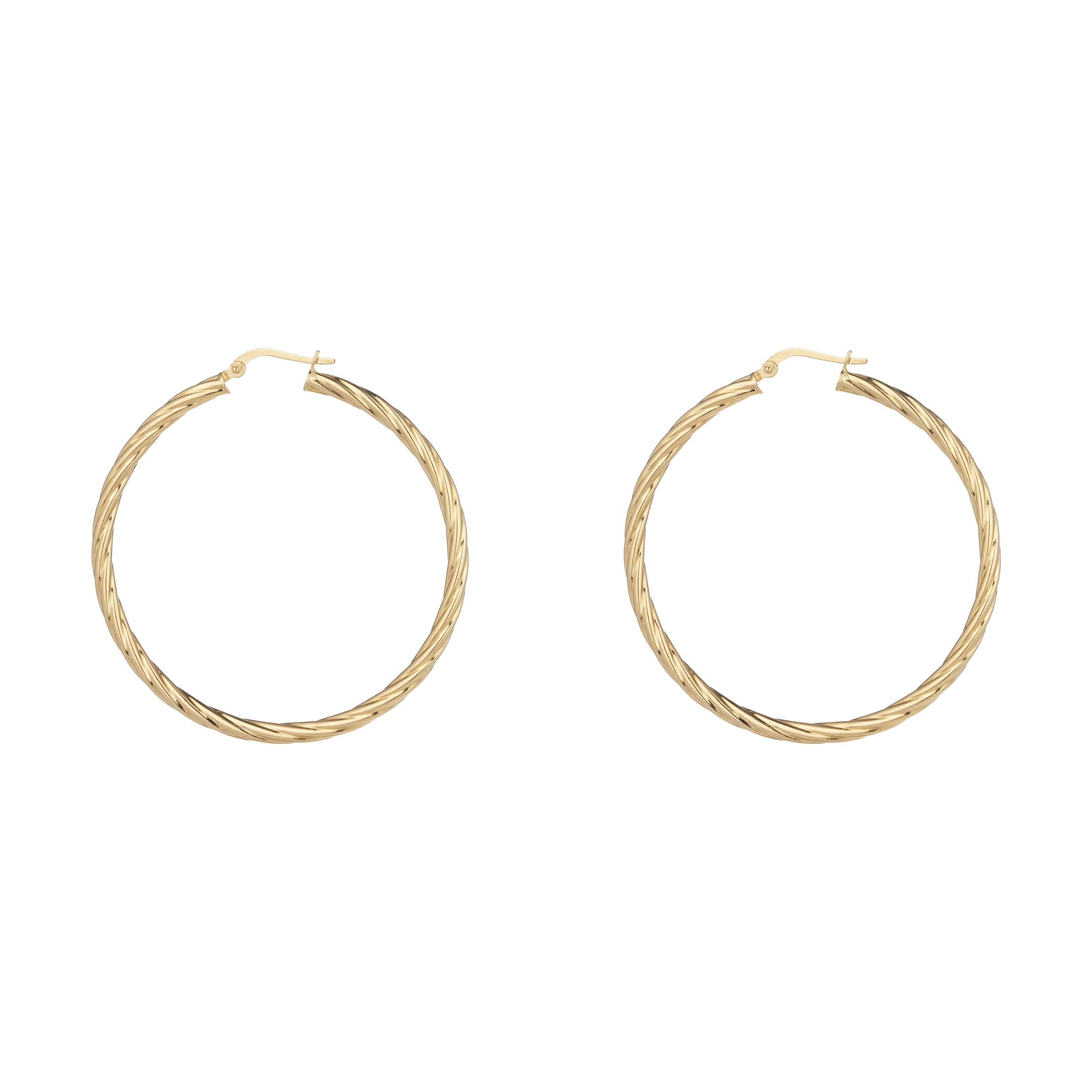 گوشواره طلا 18 عیار زنانه آلند کد KHG28