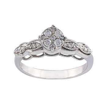 انگشتر طلا 18 عیار زنانه جواهری سون مدل 2294