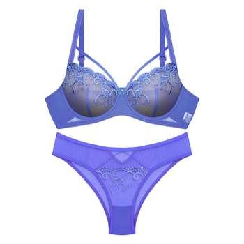 ست شورت و سوتین زنانه انوشه کد 55003 رنگ آبی