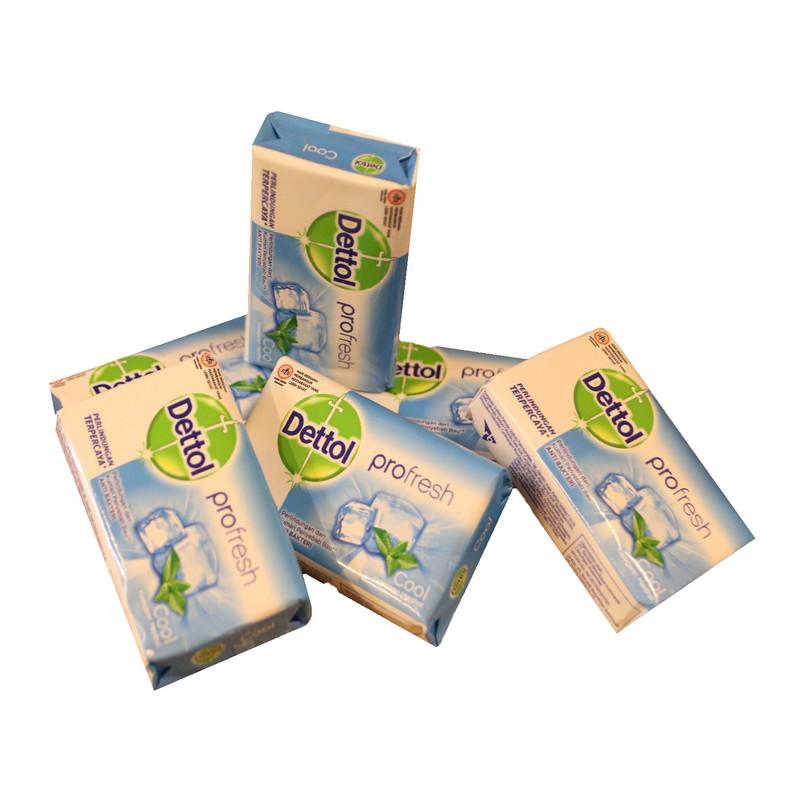 صابون ضدباکتری دتول مدل Profresh cool کد 3060316 وزن 65 گرم بسته 6 عددی