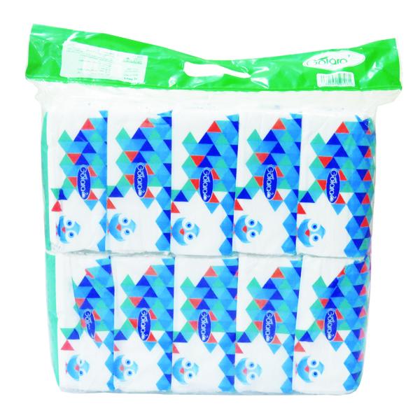 دستمال کاغذی 100 برگ گل آرا کد 10 بسته 10 عددی