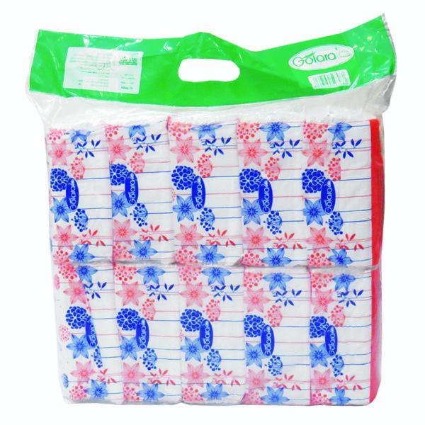 دستمال کاغذی 100 برگ گل آرا کد 50 بسته 10 عددی