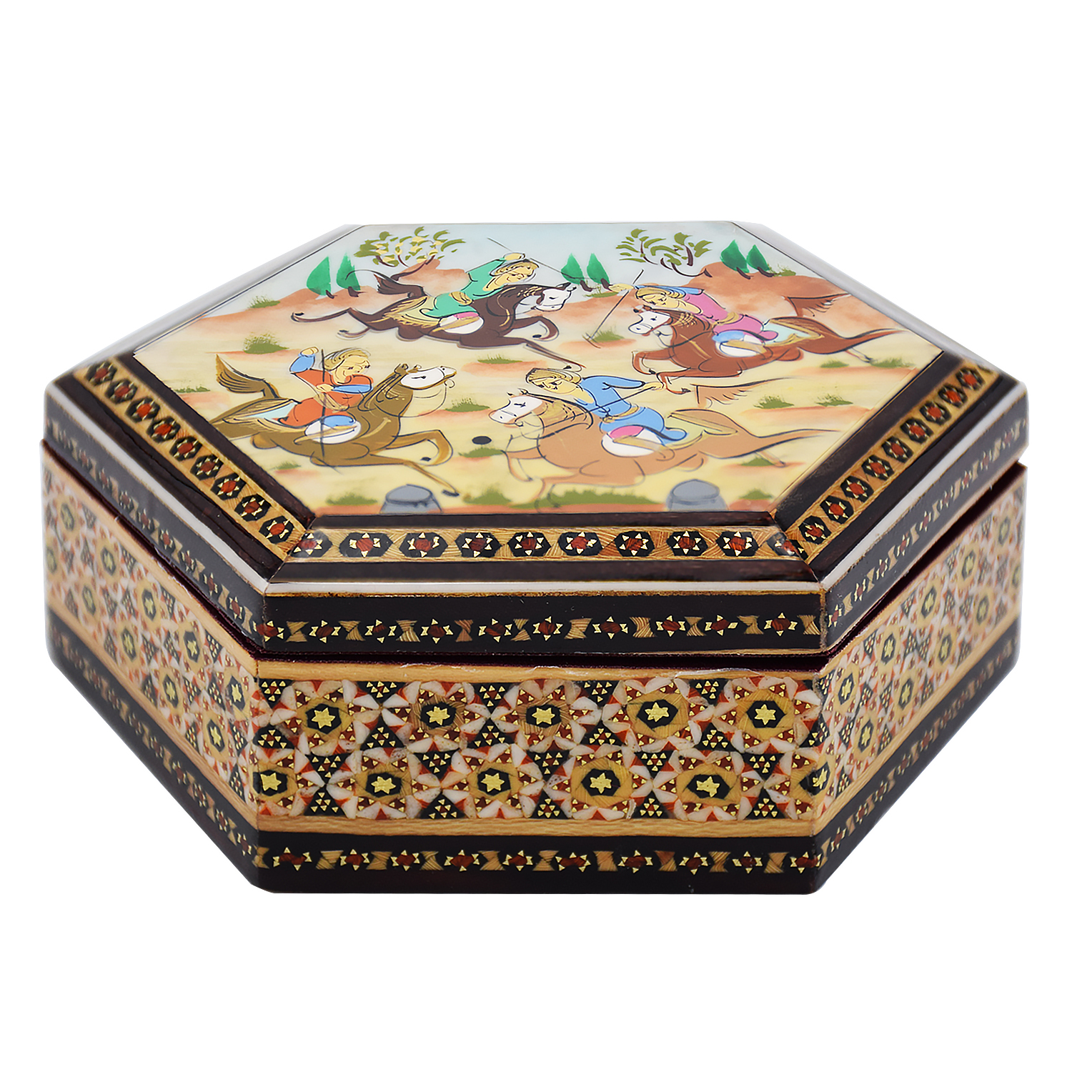 Inlay handicraft casket, Chogan Model, code 479