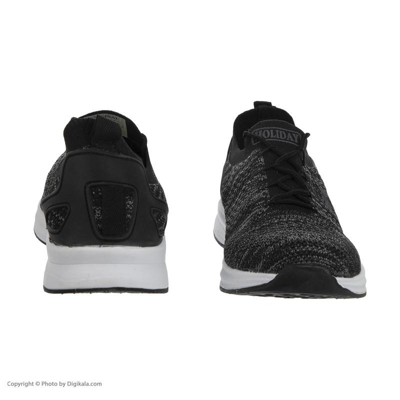 کفش ورزشی مردانه هالیدی مدل 244413-Black Melange