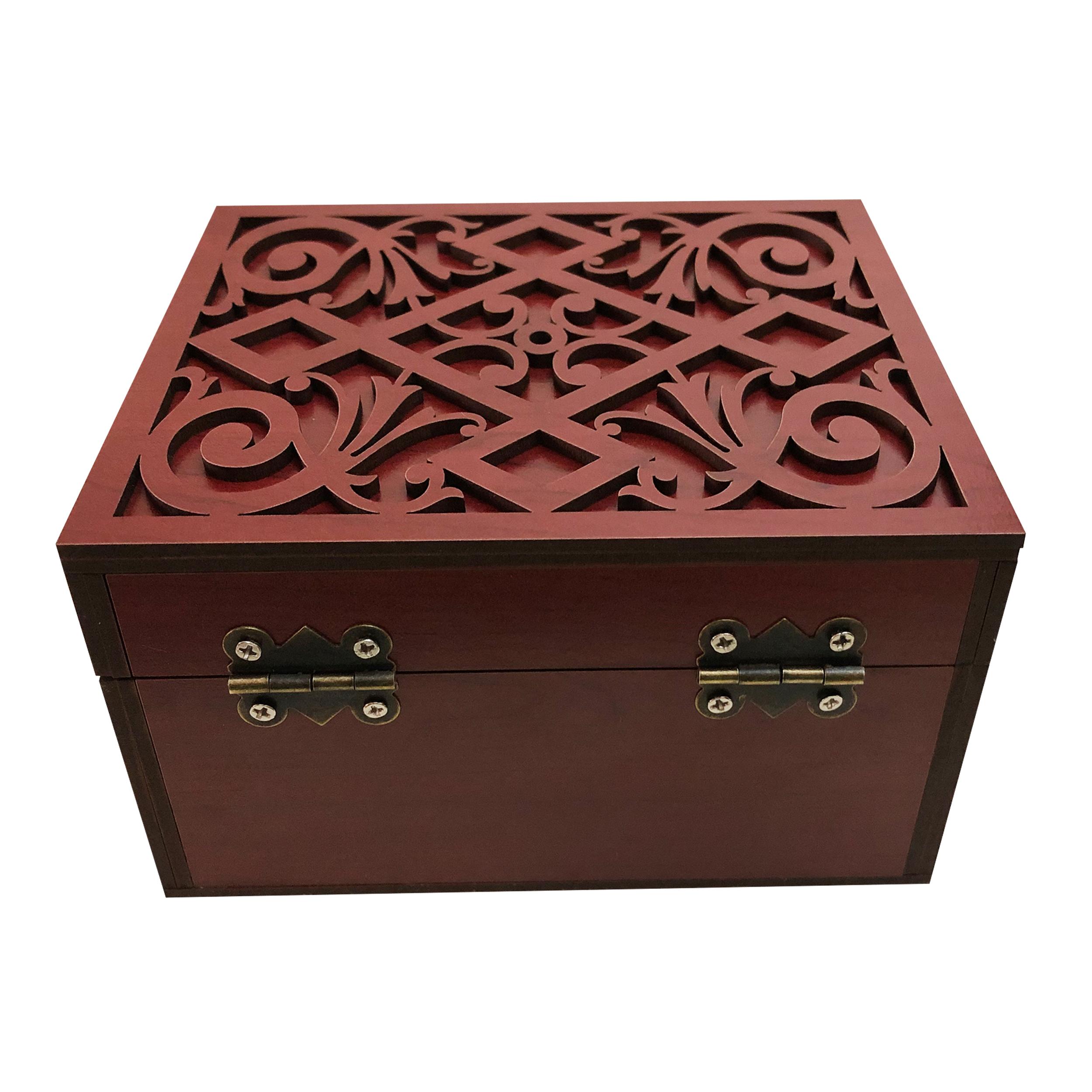 خرید                      جعبه هدیه چوبی مدل j58