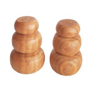 نمکدان چوبی مدل B-002 مجموعه 2 عددی