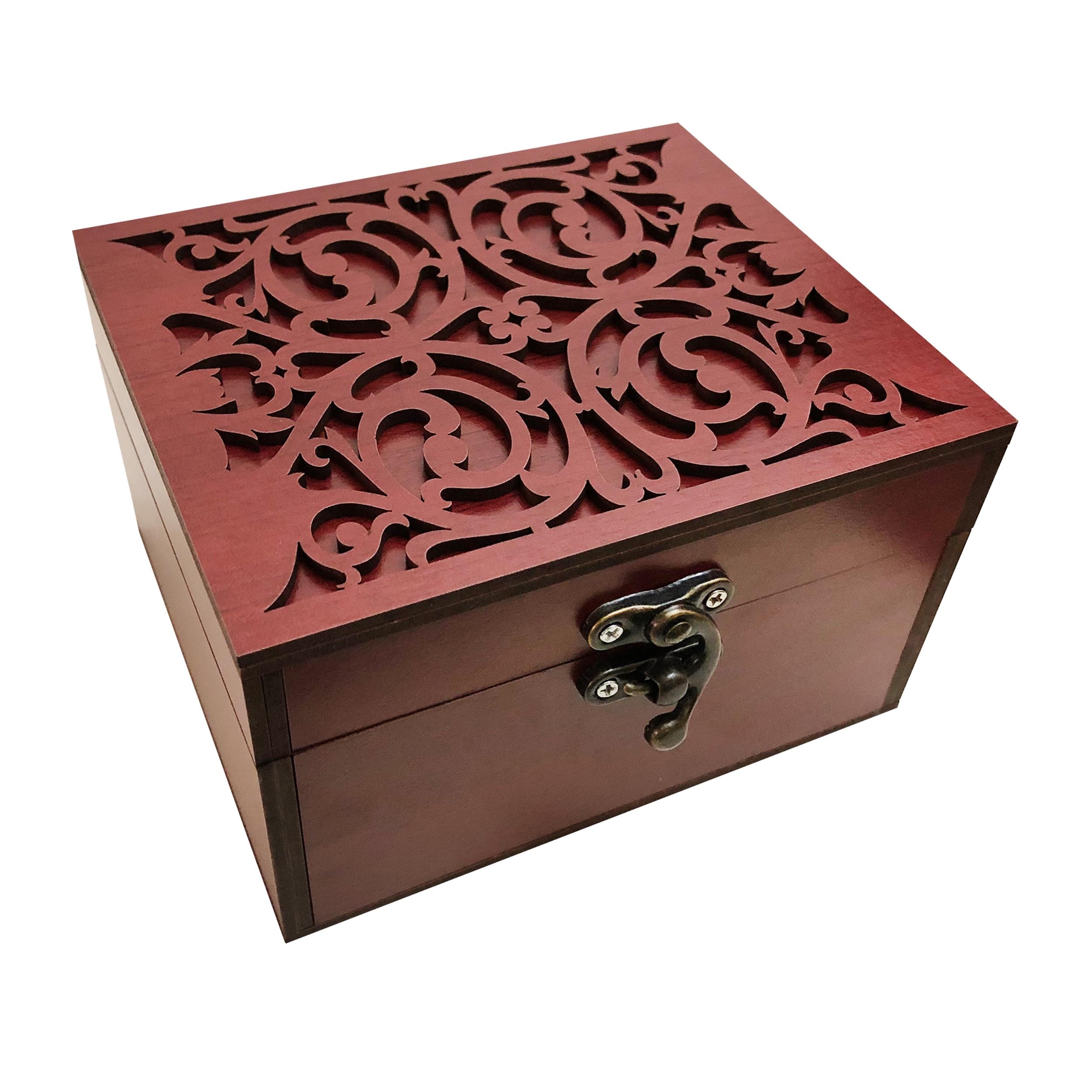 خرید                      جعبه هدیه چوبی مدل j61