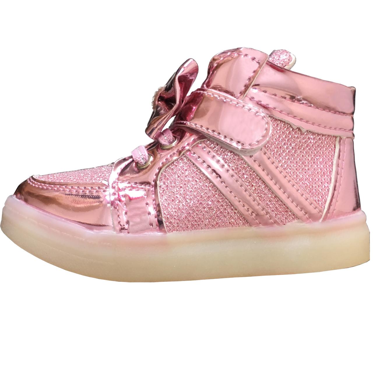 کفش راحتی چراغدار دخترانه کد 0200