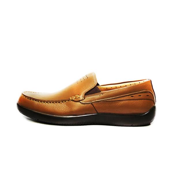 کفش روزمره مردانه فرزین کد KKW 0009 رنگ گردویی