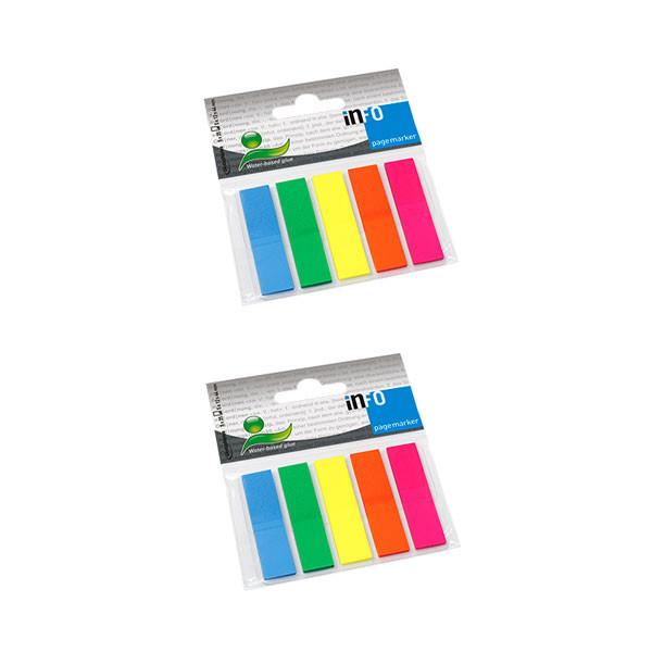 کاغذ علامت گذار چسب دار اینفو مدل 09-2681 بسته 2 عددی