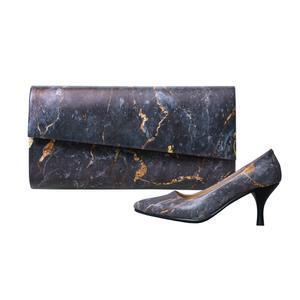ست کیف و کفش زنانه جاویا طرح گرانیت کد 2020