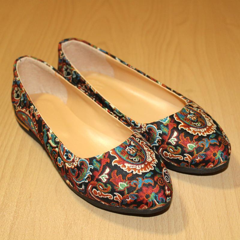 ست کیف و کفش زنانه طرح ترمه کد 311007200119