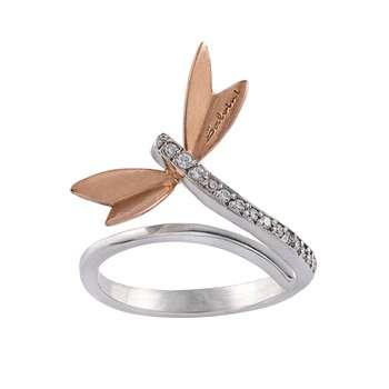 انگشتر طلا 18 عیار زنانه جواهری سون مدل 2433