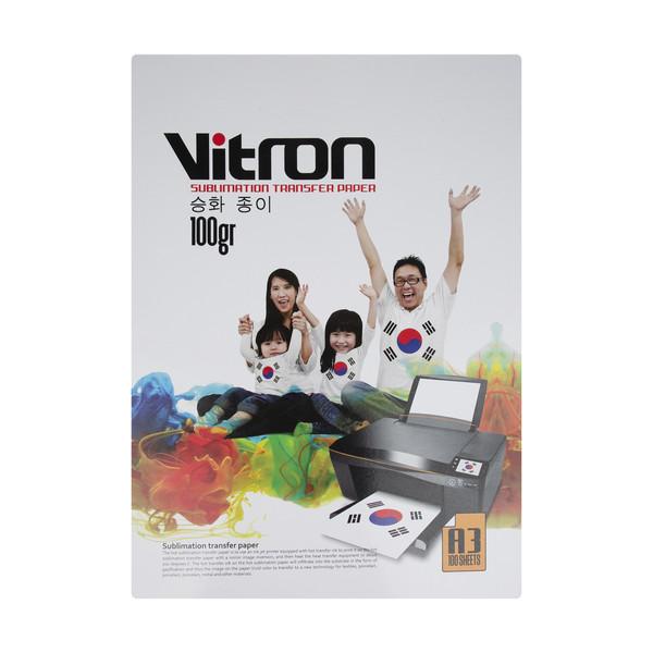 کاغذ سابلیمیشن ویترون کد 01 سایز A3 بسته 100 عددی
