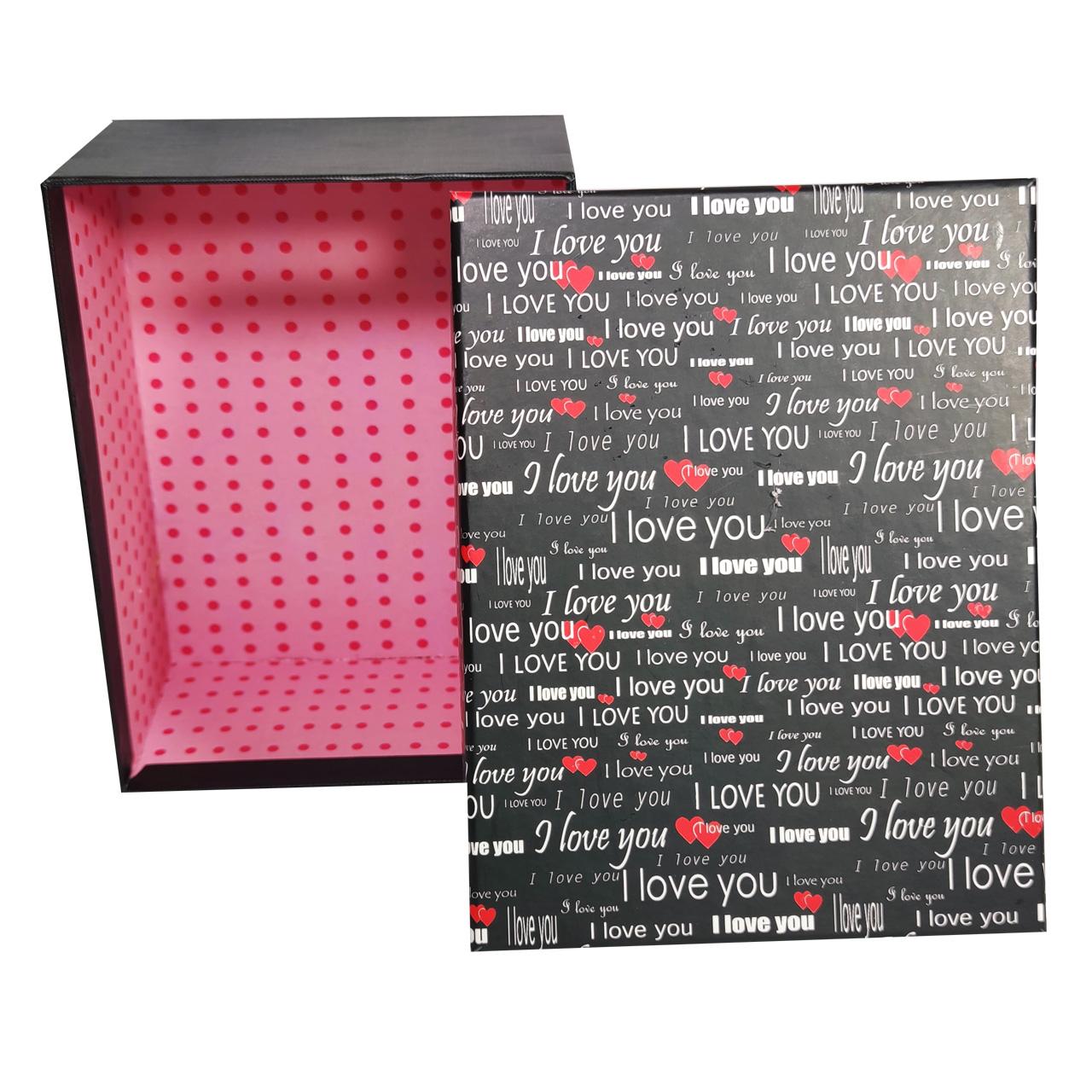 خرید                      جعبه هدیه طرح I Love You کد 10