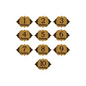 پلاک ساختمان طرح عدد پارکینگ مدل 30P بسته 10 عددی
