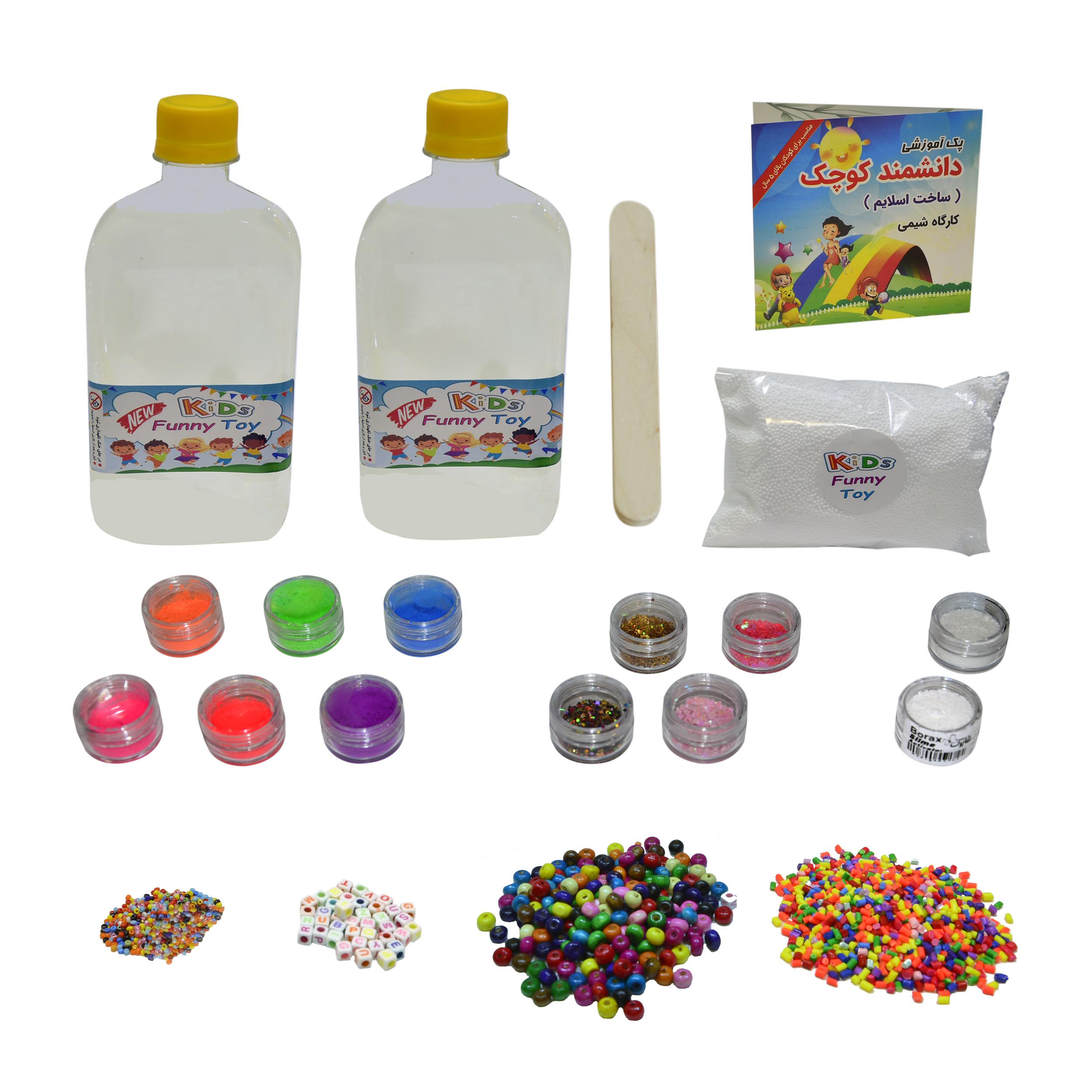 خرید                     بازی آموزشی ساخت اسلایم دانشمند کوچک مدل کارگاه شیمی مجموعه 21 عددی