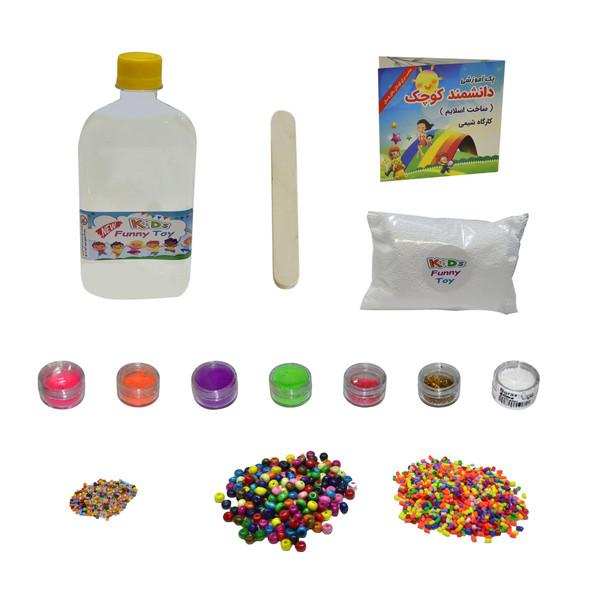بازی آموزشی ساخت اسلایم دانشمند کوچک مدل کارگاه شیمی مجموعه 14 عددی