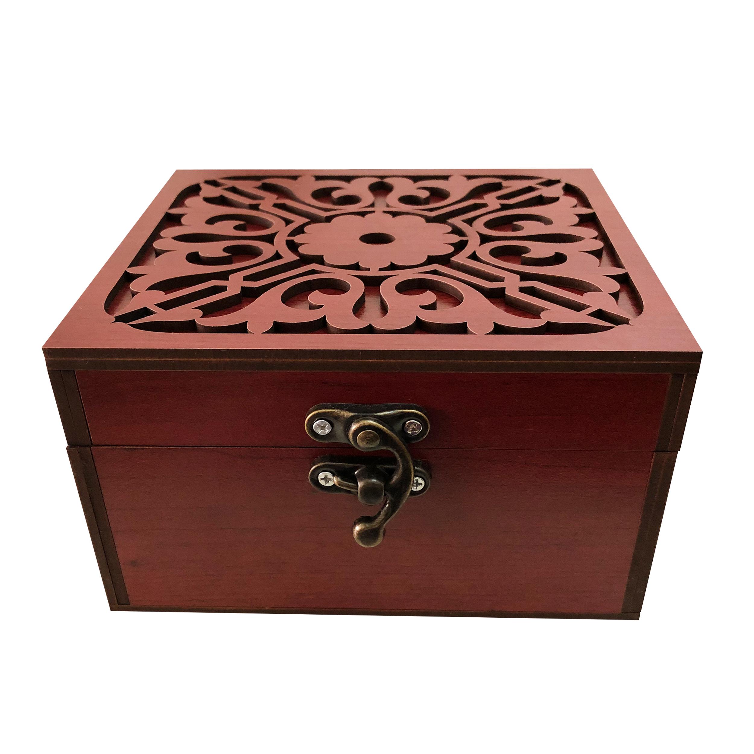 خرید                      جعبه هدیه چوبی مدل j73