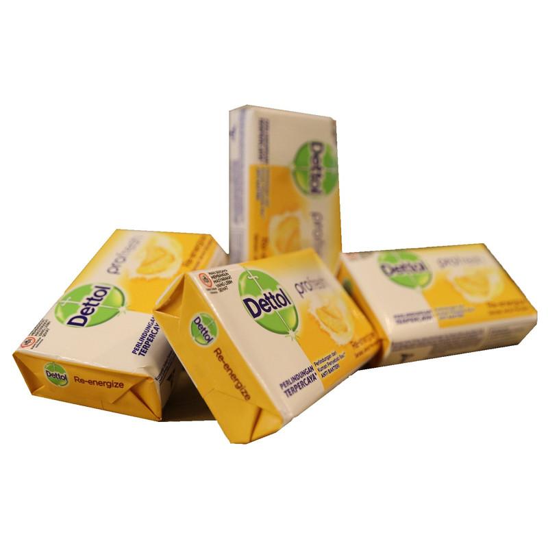 صابون ضدباکتری دتول مدل Profresh Re-energize کد 3060666 وزن 65 گرم  بسته 4 عددی