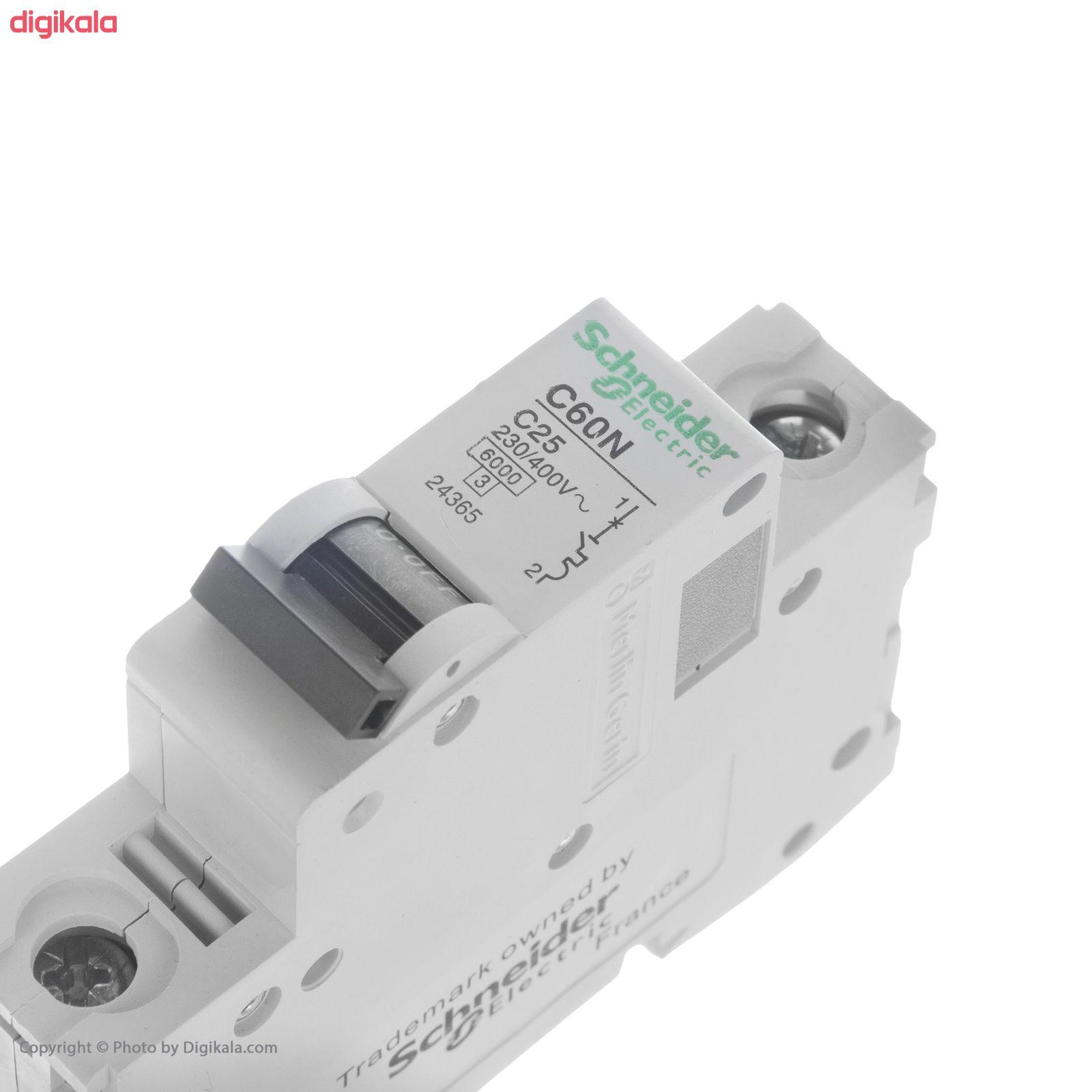 فیوز مینیاتوری تک فاز 25 آمپر اشنایدر الکتریک مدل C25 main 1 2