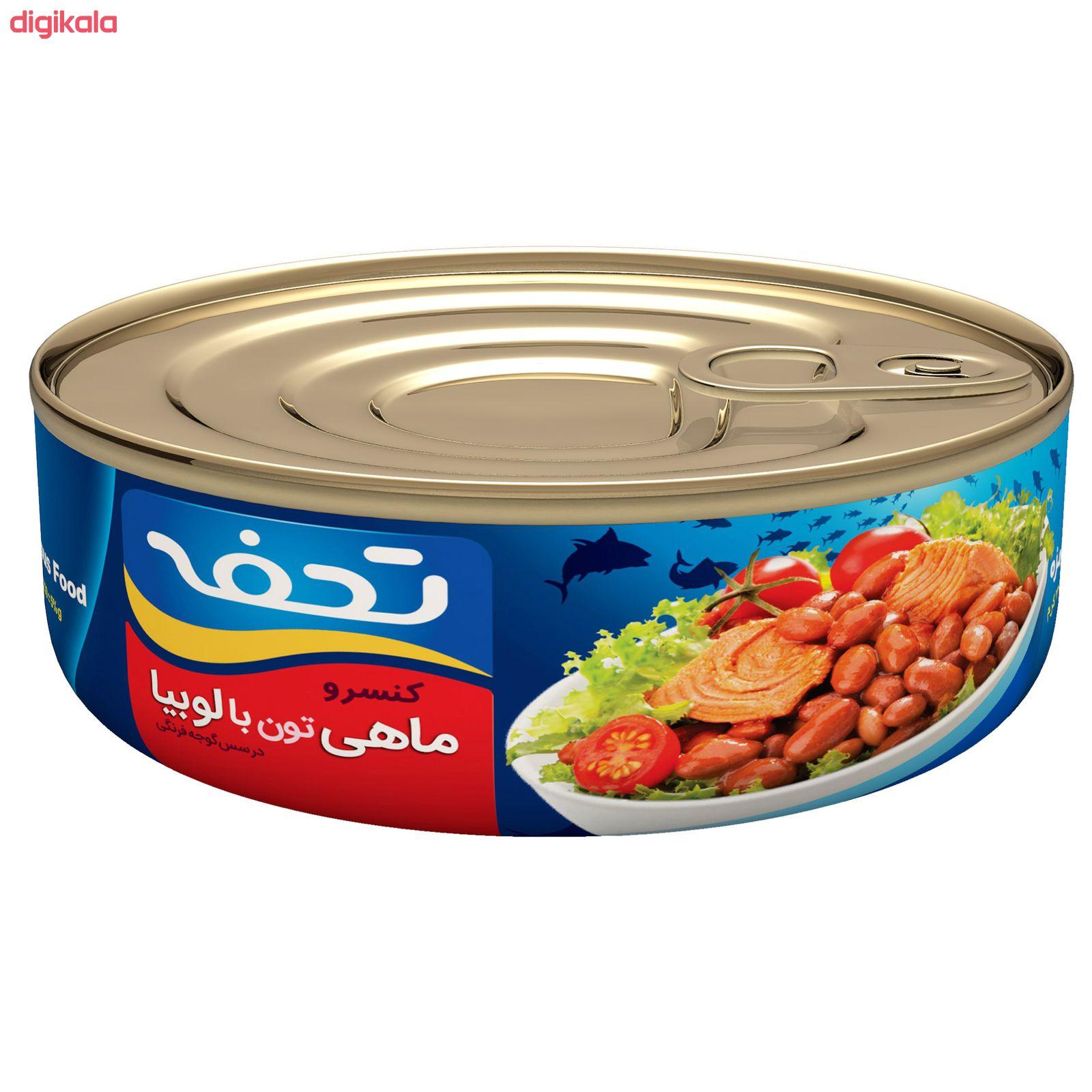 کنسرو ماهی تون لوبیا چیتی تحفه - 230 گرم main 1 4