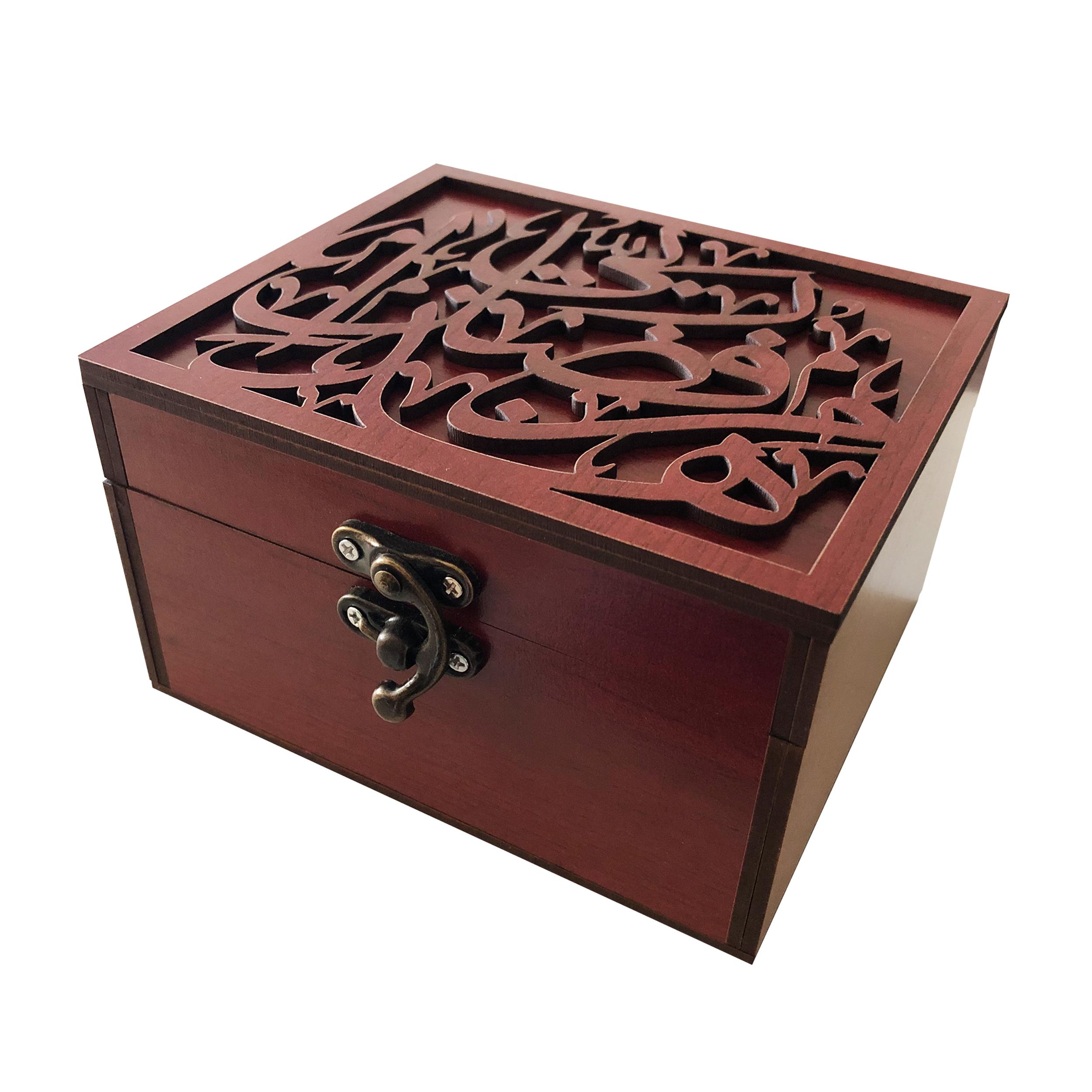 خرید                      جعبه هدیه چوبی مدل j74