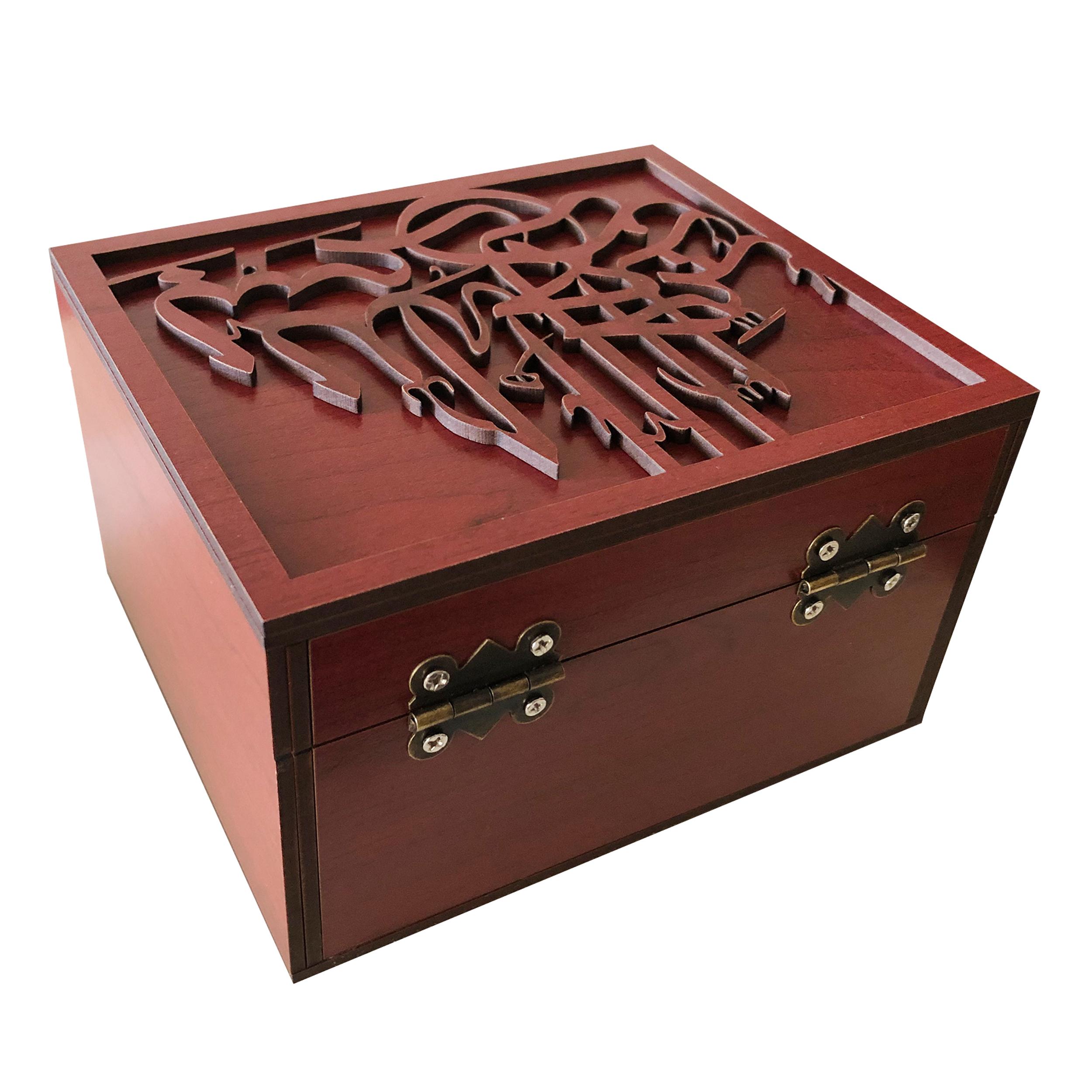 خرید                      جعبه هدیه چوبی مدل j75