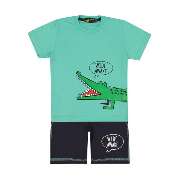 ست تی شرت و شلوارک پسرانه خرس کوچولو مدل 2011130-53