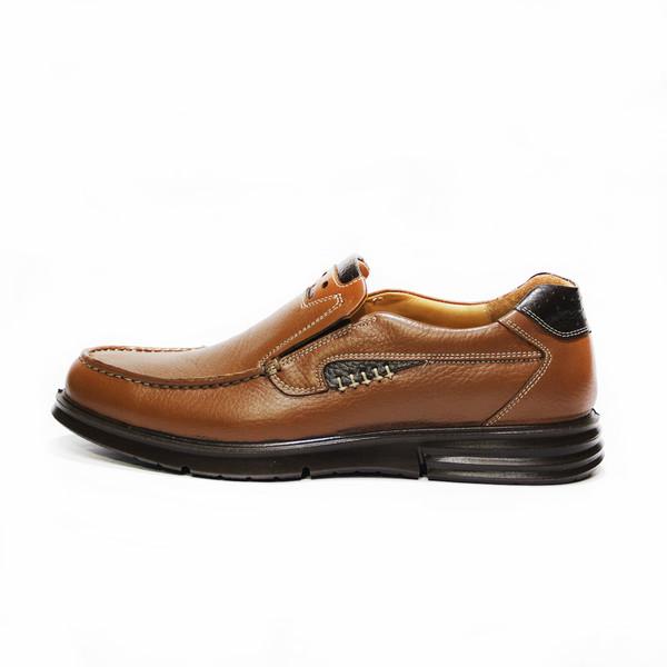 کفش روزمره مردانه فرزین کد PLKW 0012 رنگ گردویی