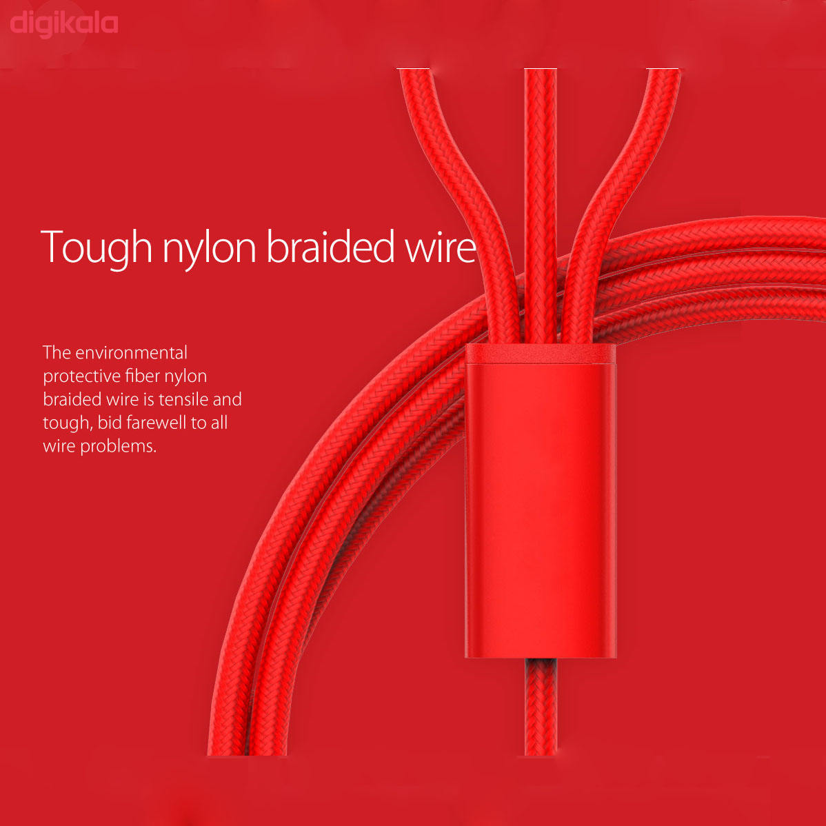 کابل تبدیل USB به microUSB / لایتنینگ / USB-C سمگپرس مدل S85 طول 1.2 متر main 1 3