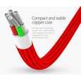 کابل تبدیل USB به microUSB / لایتنینگ / USB-C سمگپرس مدل S85 طول 1.2 متر thumb 4