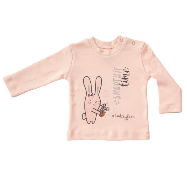 تی شرت نوزادی دخترانه پولونیکس طرح اسموتی کد 06