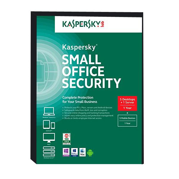 نرم افزار آنتی ویروس کسپرسکی لب نسخه  Small Office Security شش کاربره 1 ساله